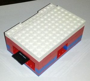 LEGO PI Box front with SD card