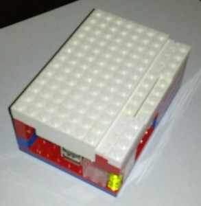 LEGO PI Box Hinge and LED Window (sorry for the bad focus)