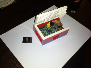 LEGO PI Box Open and SD Card Removed